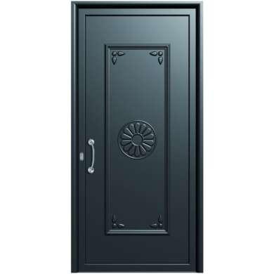 θωρακισμενη πορτα ασφαλειας με επενδυση αλουμινιου---doors4home.gr